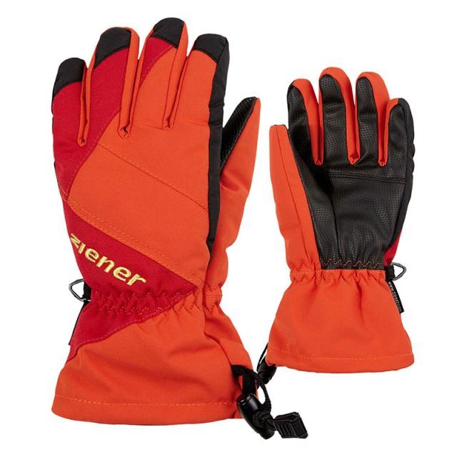 c44e81a188c Juniorské lyžařské rukavice ZIENER AGIL AS orange spice