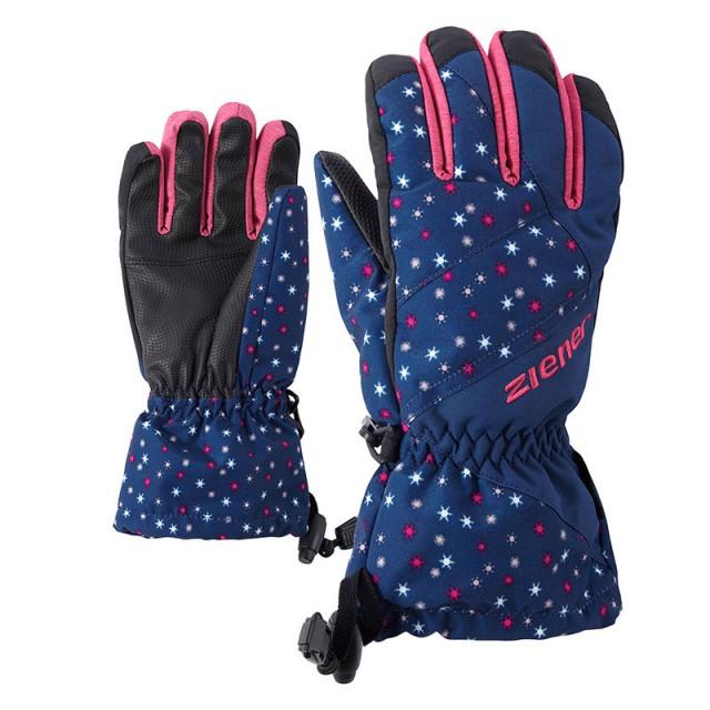 2ecf77496b7 Juniorské lyžařské rukavice ZIENER AGIL AS snowflake print