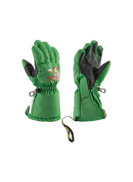 Dětské lyžařské rukavice LEKI Little Pilot green  de6cb1cd67