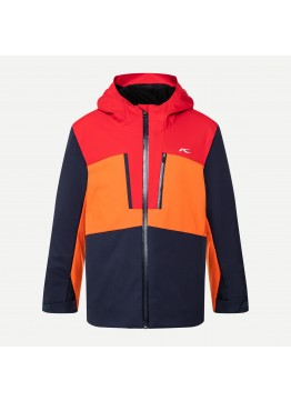 Chlapecká bunda KJUS Snow Rock Jacket atlanta blue scarlet