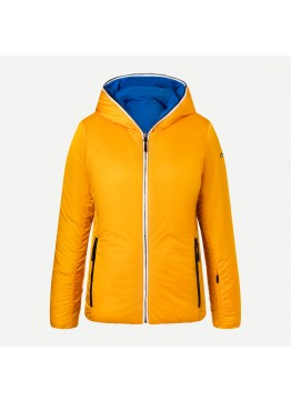 Dámská bunda KJUS Backflip Twenty Jacket gold honey yellow- elektric blue