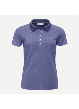 Dámské polo KJUS Signe Engineered S/S deep blue melange