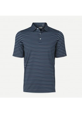 Pánské polo KJUS Soren Multicolor Stripe atlanta blue