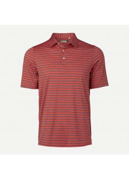 Pánské polo KJUS Soren Multicolor Stripe jungle red