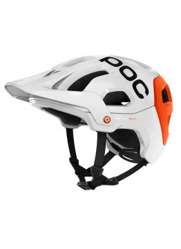Cyklistická helma POC Tectal Race hydrogen white/iron orange